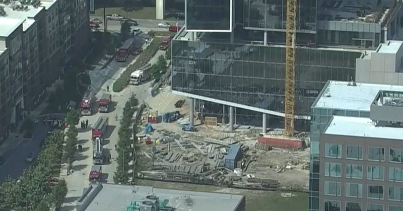 Skyview of the construction site