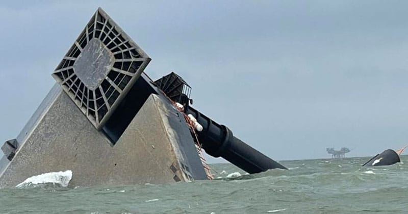 capsized Seacor liftboat